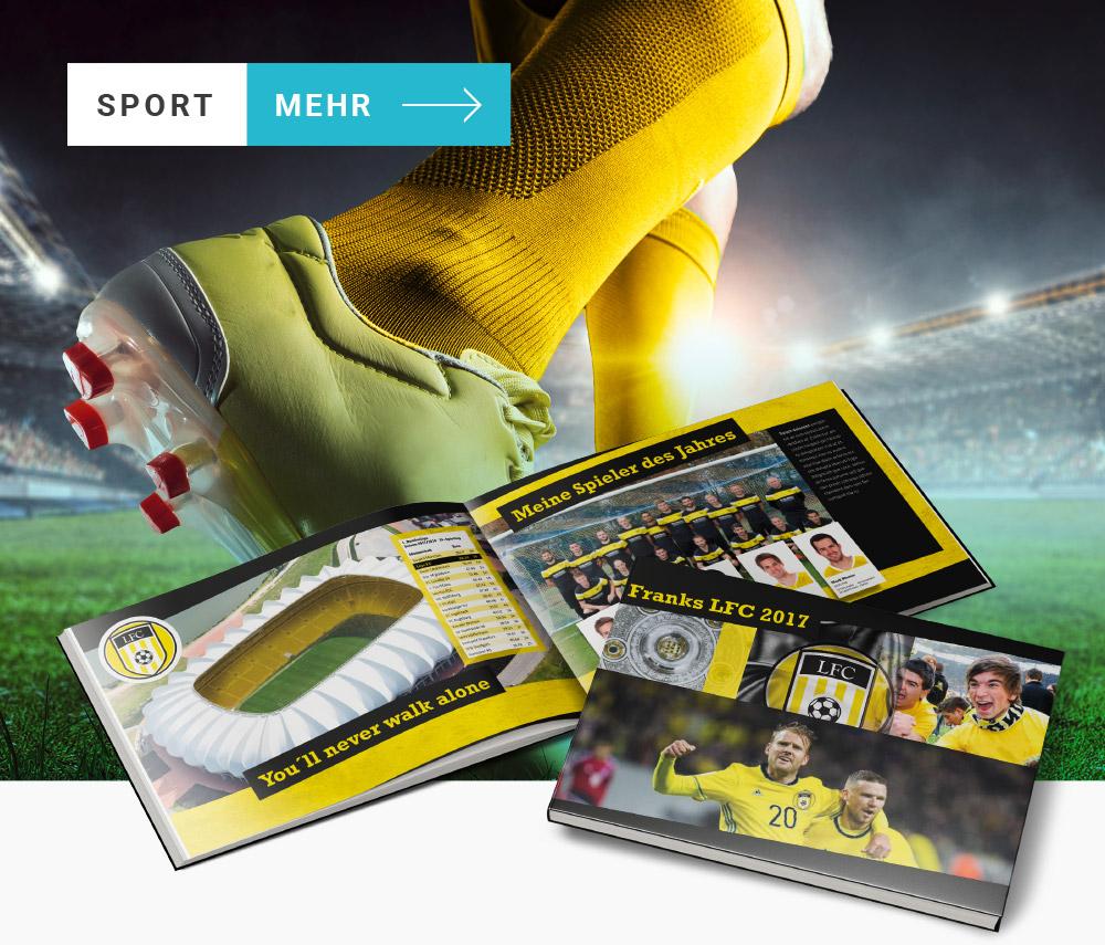 Erlebnisbücher von Sportereignissen